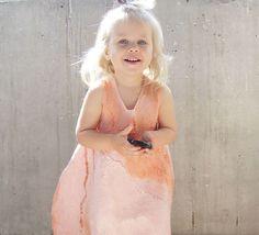 Нежно-розовое платье-баллон. Для малышки 2-3 года - платье для девочки
