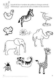 * Puzzel zebra van12 stukjes, plastificeren of laten