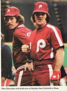 Mike Schmidt y Pete Rose.