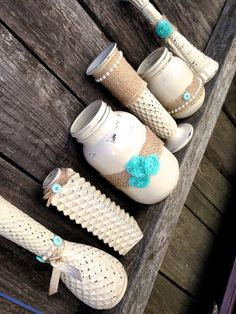 Hard to let goShabby Chic Cream Teal by STITCHandCABOODLE on Etsy, $69.00