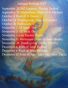 autumn festival dates 2013 Season Calendar, New Year Calendar, Guy Fawkes Night, Steiner Waldorf, Festival Dates, Waldorf Education, Fall Candles, Happy Fall Y'all, Festival Lights