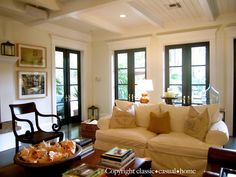 classic • casual • home ceiling and french doors