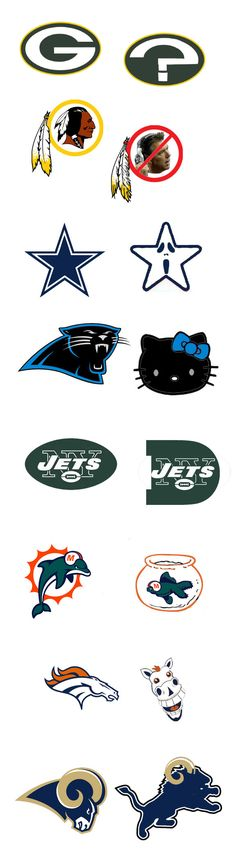 What if NFL teams updated their logos to mirror their performance on the field? Page 2 offers its suggestions.