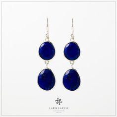 Lapis Lazuli Two-Stone Earring Gemstone Earrings, Drop Earrings, Gemstones, Silver, Jewelry, Jewlery, Gems, Jewerly, Ear Jewelry