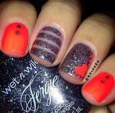 nails, simple nails, nail designs (valentins day nails shellac)