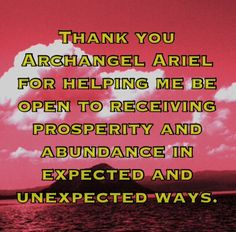 Archangel Ariel blessing of prosperity and abundance