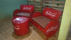 Metal Drum, Barrel Chair, Metal Chairs, Coca Cola, Beverages, Canning, Furniture, Drum, Barrel Furniture