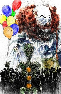 Pennywise - It Horror Horror Icons, Horror Movie Posters, Horror Movies, Illustrations, Illustration Art, Stephen King Movies, It The Clown Movie, Creepy Clown, Creepy Circus