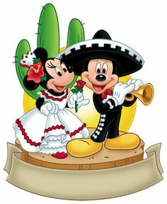 Mexican Mickey Mouse and Minnie Mouse Walt Disney, Disney Love, Disney Magic, Disney Mickey, Disney Art, Mickey Mouse Y Amigos, Minnie Y Mickey Mouse, Mickey Party, Mickey Mouse And Friends