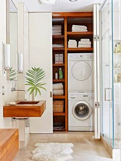 blog de decoração - Arquitrecos: Áreas de serviço camufladas no armário!