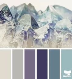 Mineral tones color palette #steel #blue #glacier