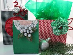 Gift Wrap: Upcycled Boxes