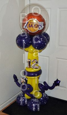 Laker Birthday Balloon for a 12 year old