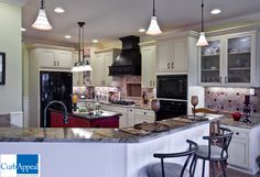 Breakfast bar, lighting, cabinets, countertops, backsplash, Kitchen #remodel , #Curb #Appeal #Renovations
