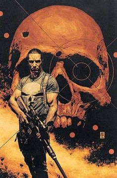 I've never seen an artist capture the mood of the Punisher quite like Tim Bradstreet. And so is the Punisher. Punisher Marvel, Marvel Vs, Marvel Comics Art, Bd Comics, Punisher Netflix, Daredevil, Captain Marvel, Heros Comics, Comic Book Heroes