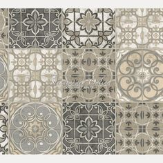 Inspirational K chen Tapete Landhaus Fliesen Ornamente Mandala