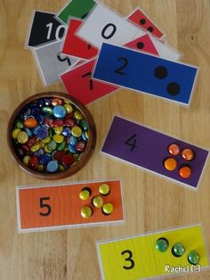 This site has tons of different free counting card printables.