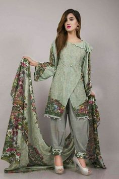 Eid Collection 2020 , All the latest New Eid embroidered Lawn . Pakistani Fashion Casual, Pakistani Dresses Casual, Indian Fashion Dresses, Frock Fashion, Pakistani Dress Design, Indian Designer Outfits, Indian Outfits, Casual Dresses, Pakistani Party Wear