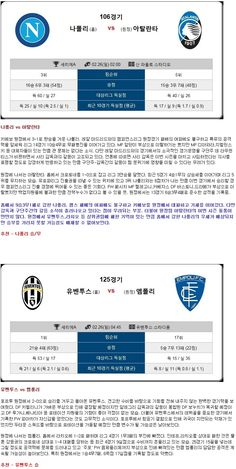 [축구★토정비결★ 26일 <세리에A종합>