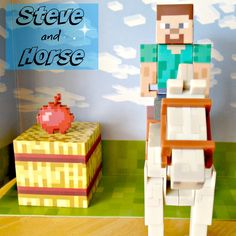 Steve and Horse Minecraft Action Figure Series 2 -   HEY !!!!  For more really cool minecraft stuff check out http://minecraftfamily.com/