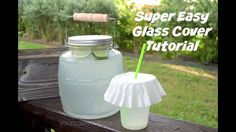 Easy Glass Cover Tutorial to keep the bugs out this summer - YourSassySelf.com