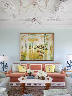 The Pantone Color Institute just unveiled the color of the year for 2019 and the nuance is a bit unexpected but very welcomed. It's called Pantone House Of Turquoise, Coral Turquoise, My Living Room, Living Room Decor, Living Spaces, Pool House Designs, Photo Instagram, Color Of The Year, Traditional House