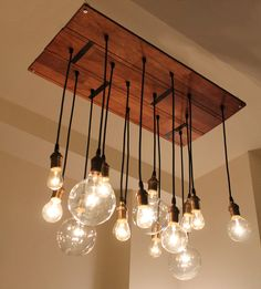 Reclaimed Hardwood Floor Chandy eclectic chandeliers