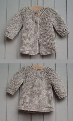 Diy Crafts - Find ideas in home decor, design, shoping, cooking and much more for all your projects and interests. Baby Cardigan Knitting Pattern Free, Kids Knitting Patterns, Knitted Baby Cardigan, Hand Knitted Sweaters, Knitting For Kids, Baby Patterns, Quick Knits, Crochet Baby, 3 Years