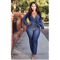 The Perfect Denim Jumpsuit Size SM  Model @sheshedatsme  Www.houseoftinks.com #photo #instagood #love #beautiful #fashion #shopping #shoes #shoppingonline