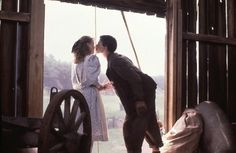 The first kiss that Felicity received from Gus Pike (Road to Avonlea)