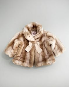 Faux-Fur Coat with Bow by Juicy Couture Baby at Neiman Marcus.