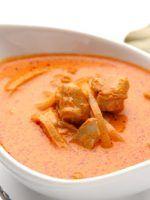 Receta de receta de salsa curry con leche de coco