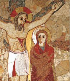 """""""Crucifixion"""", chapelle Casa Incontri Cristiani, Rome"""