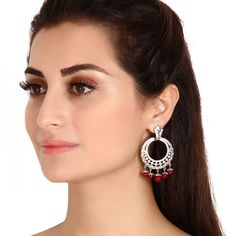Zircon Earring 26703R #Kushals #Jewellery #Fashion #Indian #Jewellery #Earrings #Designer  #Chandbali #modern #unique