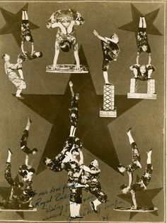 Gerorge Wong Troupe. The Wong's on the Tom Pack Circus 1948.