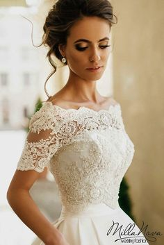 MILLA NOVA 2016 WEDDING DRESSES - Elegant Wedding: Bridal Gowns 2017 Wedding Trends For 2017 Wedding Ideas Themes Cakes Reception Venues Montreal Real Weddings Magazine Photo Toronto Canada United States