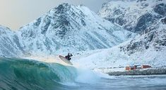Norway extreme temperature surfing