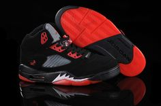 2012 New Release Jordan 5 retro Black/Silver/Fire Red Cheap Nike Shoes Online, Jordan Shoes Online, Cheap Jordan Shoes, Cheap Jordans, Nike Shoes For Sale, Air Jordan Shoes, Jordans For Men, Air Jordans, Jordan Basketball Shoes