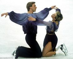 Golden moment:Chris and Jayne skating to Ravel's Bolero for their winning routine at the ...
