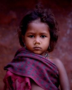 Young village girl, Orissa, India