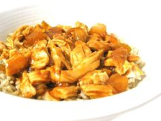 Skinny Orange Shredded Chicken, Crock-Pot or Baked. It's simple and delicious! Each serving has 294 calories, 1 gram of fat and 7 Weight Watchers POINTS PLUS. http://www.skinnykitchen.com/recipes/skinny-orange-shredded-chicken-baked-or-crock-pot/