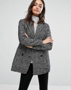 New Look - Veste en laine mouchetée