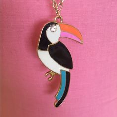 "Kate Spade Toucan Necklace Kate Spade Toucan Necklace.  Gold Tone, 32"" long Chain, Toucan is 3"" long, Excellent condition!  worn once, like new. Comes in late spade pouch kate spade Jewelry Necklaces"