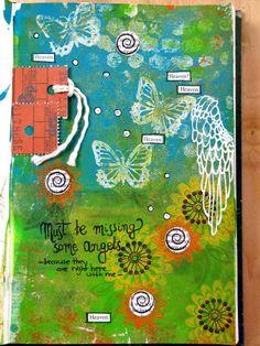 brilliant art journal page from Birgit!