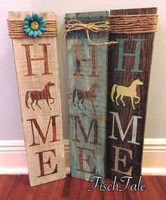 Horse signs straight from the ranch! The horse sign is a perfect gift for anyone that has country decor in their home or just LOVES horses. It would look adorable in a country style home or any home that wants to showcase their love of horses . Signs can be customized to your preference!