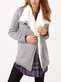 Faites des jalouses avec cette jolie veste de maternité à la doublure an laine…