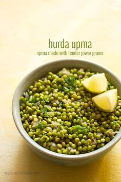 Hurda Upma is a Healthy, Tasty and Nutritious Upma Variety made with Tender Sorghum Grains (Jowar or Ponkh). These Jowar Grains are Super Healthy and taste good in recipes made with them.