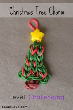 How to Make a Christmas Tree Charm #rainbowloom
