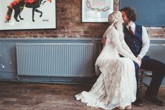 A 70′s Bohemian Inspired Bride and Groom | Photography by http://www.philippajamesphotography.com/