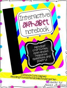 Interactive alphabet notebook!